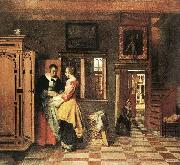 HOOCH, Pieter de At the Linen Closet g oil painting picture wholesale