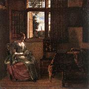 HOOCH, Pieter de Woman Reading a Letter s oil painting picture wholesale
