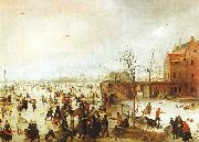 Hendrick Avercamp A Scene on the Ice near a Town oil painting picture wholesale