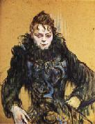 Henri De Toulouse-Lautrec Woman with a Black Boa oil painting artist