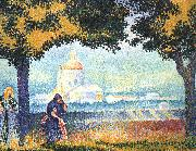 Henri Edmond Cross The Church of Santa Maria degli Angeli near Assisi oil painting picture wholesale