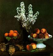 Henri Fantin-Latour Bouquet du Juliene et Fruits oil painting picture wholesale