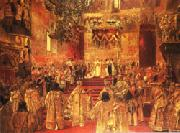 Henri Gervex The Coronation  of Nicholas II oil