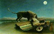 Henri Rousseau The Sleeping Gypsy oil painting artist