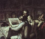 Honore  Daumier The Print Collectors oil painting artist