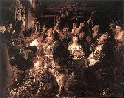 JORDAENS, Jacob The Bean King af oil painting picture wholesale
