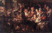 JORDAENS, Jacob The Bean King f oil painting picture wholesale