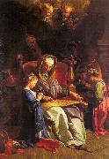 JOUVENET, Jean-Baptiste The Education of the Virgin sf oil painting artist