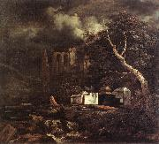 Jacob van Ruisdael Jewish Cemetery oil painting picture wholesale