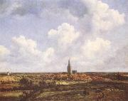 Jacob van Ruisdael Landscape with Church and Village oil painting picture wholesale