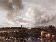 Jacob van Ruisdael An Extensive Landscape with Ruined Castle and Village Church oil painting picture wholesale