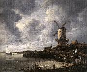 Jacob van Ruisdael The Windmill at Wijk bij Duurstede oil painting picture wholesale