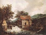 Jacob van Ruisdael Two Watermills and an Open Sluice near Singraven oil painting picture wholesale
