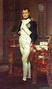 Jacques-Louis  David Napoleon in his Study Spain oil painting reproduction