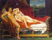 Jacques-Louis  David Cupid and Psyche1 oil painting artist