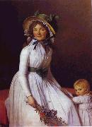 Jacques-Louis David Portrait of Emilie Seriziat and Her Son oil painting picture wholesale