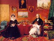 James Holland The Langford Family in their Drawing Room oil painting artist