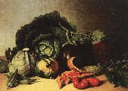 James Peale Still Life Balsam Apple and Vegetables oil painting picture wholesale