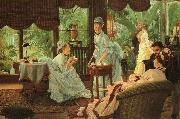 James Tissot In the Conservatory (Rivals) oil painting picture wholesale