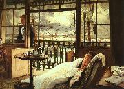 James Tissot A Passing Storm oil painting artist