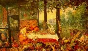 Jan Brueghel The Sense of Taste oil painting picture wholesale