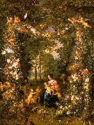 Jan Brueghel Holy Family in a Flower Fruit Wreath Spain oil painting reproduction
