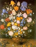Jan Brueghel Bouquet of Flowers in a Clay Vase Spain oil painting reproduction