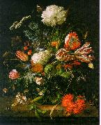 Jan Davidz de Heem Vase of Flowers 001 oil painting artist
