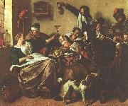Jan Steen The Artist's Family oil painting picture wholesale