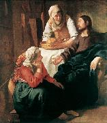 Jan Vermeer Christ in the House of Martha and Mary oil painting picture wholesale