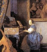 Jan Vermeer Lady Seated at a Virginal oil painting picture wholesale