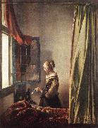 Jan Vermeer Girl Reading a Letter at an Open Window oil painting picture wholesale