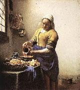 Jan Vermeer The Milkmaid oil painting picture wholesale