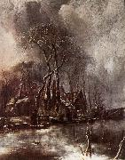 Jan van de Capelle Winter Landscape oil painting artist