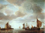 Jan van de Capelle Ships on a Calm oil painting artist