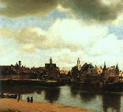 JanVermeer View of Delft oil painting artist