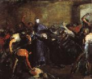Jean - Baptiste Carpeaux Monseigneur Darboy in His Prison ( Archbishop Shot by Commune, May 24, 1871 ) oil painting picture wholesale