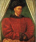 Jean Fouquet Charles VII of France oil painting artist