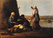 Jean Francois Millet The Haymakers' Rest oil painting artist