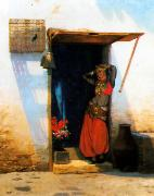 Jean Leon Gerome Woman of Cairo at her Door oil painting picture wholesale