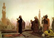 Jean Leon Gerome Prayer on the Rooftops of Cairo oil painting picture wholesale