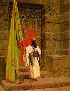 Jean Leon Gerome Unfolding the Holy Flag oil painting picture wholesale
