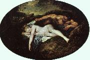 Jean-Antoine Watteau Jupiter and Antiope oil painting picture wholesale