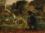 Jean-Franc Millet Garden Scene oil painting picture wholesale