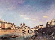Johan-Barthold Jongkind The Seine and Notre-Dame de Paris oil painting picture wholesale