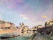 Johann Barthold Jongkind The Seine and Notre Dame in Paris oil painting picture wholesale