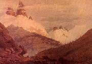 John Robert Cozens Between Chamonix and Martigny oil painting artist