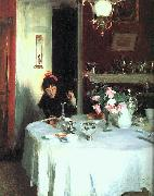 John Singer Sargent The Breakfast Table oil painting picture wholesale