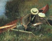 John Singer Sargent Paul Helleu Sketching With his Wife oil painting