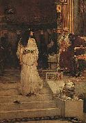 John William Waterhouse Marianne Leaving the Judgment Seat of Herod oil painting picture wholesale